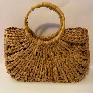 White Stag Vintage Straw Handbag Bamboo Summer